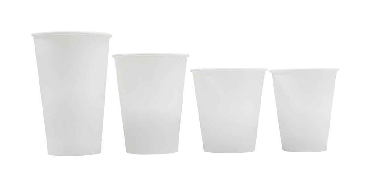 PLA 白色蔗渣单层杯